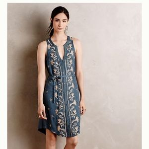 Anthropologie TINY Embroidered Syden Shirtdress